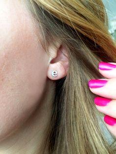 Lowercase Initial Earrings -  Silver or