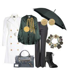Días de Lluvia by outfits-de-moda2 on Polyvore featuring moda, Lanvin, Derek Lam, Burberry, Balenciaga, Miso, Kenneth Jay Lane and Mawi