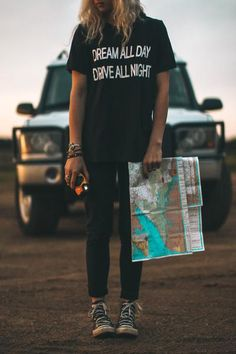 Dream All Day Drive All Night Tee...Ronan lynch vibes