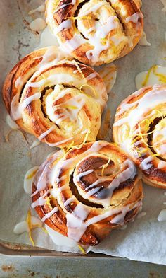 Sitruunapuustit | Maku Pulla Recipe, Breakfast Recipes, Dessert Recipes, Desserts, Finnish Recipes, Sweet Buns, Sweet Bakery, Sweet Pastries, Vegan Foods