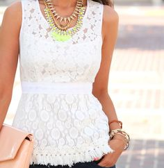 white and neon