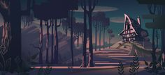 Hansel and Gretel: Early concept inspired by Eyvind Earle