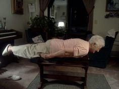 Planking Granny.. lol  Wellderly day ~ March 16 ~ *celebrate senior citizens who don't act their age.... :)