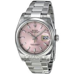Rolex Datejust Automatic Pink Dial Stainless Steel Ladies Watch 116200PSO Rolex,  http://www.amazon.com/gp/product/B007ISHT5G?ie=UTF8=213733=393177=B007ISHT5G=shr=abacusonlines-20&=watches=1362457823=1-49=rolex via @amazon