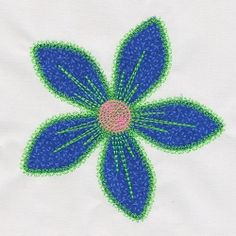 Accuquilt Go! Fun Flower - 5x5 | What's New | Machine Embroidery Designs | SWAKembroidery.com VStitchDesigns