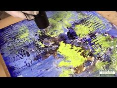 Part 5 of Andy Braitman's You Tube series on Encaustics Painting features Andy carefully adding gold dust to his wax creation. He is also mixing traditional oil paints with Weber Res-N-Gel  and also Dorland's Wax Medium to convert the paint to a wax medium...