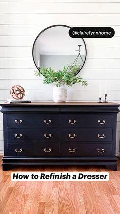 Refurbished Dressers, Dresser Refinish, Redone Dressers, Restored Dresser, Diy Dressers, Painted Dressers, Bedroom Dressers, Diy Furniture Renovation, Bedroom Furniture Makeover