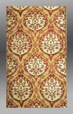 Silk brocade panel, Turkey 16th century. Museum of Fine Arts, Boston.
