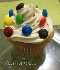 m&m's cupcake!