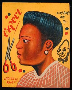 Indigo Arts Gallery | African Barber Signs | Ghana