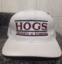 University Of Arkansas Hogs Vintage The Game Snapback Hat Russel Athletics   RARE ee80248e62e