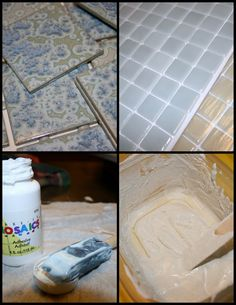 Foxy Inspirations: Mosaic Tile Mirror Project