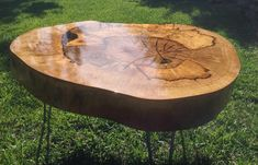 How to use epoxy to strengthen and seal soft/less than healthy wood chunks. (Bonus: how to effectively anchor legs in likewise unhealthy/soft wood) Slab Table, Resin Table, Wood Tables, Wood Projects, Woodworking Projects, Craft Projects, Tree Trunk Table, Wood Stumps, Tree Stumps