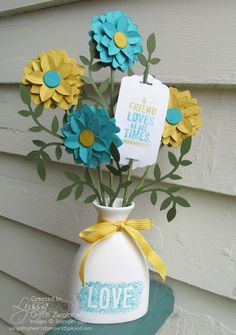 Blendabilties ceramic vase project by Lyssa Griffin Zwolanek, Song of My Heart Stampers. Please click through for tips and supplies used.