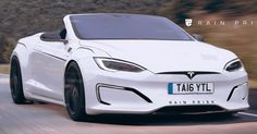 #Tesla Model S Looks Pretty Sleek As A Convertible #Renderings #Tesla
