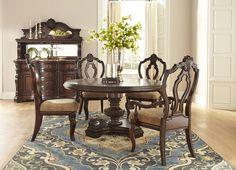Dining Rooms, Villa Sonoma Round Table - Dark, Dining Rooms ...