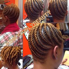 Such Neat Flat Twists @kinkycurlybeauty - http://community.blackhairinformation.com/hairstyle-gallery/updos/neat-flat-twists-kinkycurlybeauty/ #protectivestyling #updo #flattwists