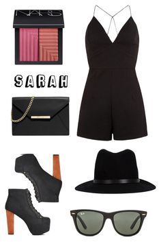 """"" by sarahbicknelll ❤ liked on Polyvore featuring moda, AX Paris, NARS Cosmetics, Jeffrey Campbell, MICHAEL Michael Kors, rag & bone y Ray-Ban"