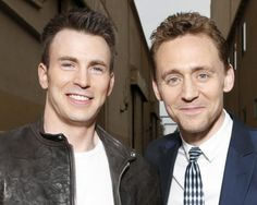 Chris Evans and Tom Hiddleston...Captain America annnnddd Loki :)