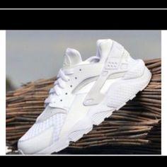 Nike Air Huaraches Sneakers Nike Air Huaraches Sneakers 3 colors white and Black, Gold Nike Shoes Sneakers
