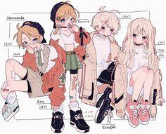 Fantasy Character Design, Character Design Inspiration, Character Art, Cute Art Styles, Cartoon Art Styles, Anime Drawings Sketches, Cute Drawings, Style Anime, Drawing Anime Clothes