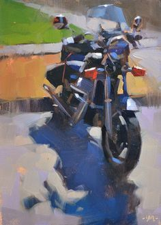 """""""Parked for a Getaway"""" original fine art by Carol Marine Paintings I Love, Canvas Paintings, Fine Art Auctions, Art Themes, Gouache, Plein Air, Fine Art Gallery, Les Oeuvres, Pastel"""