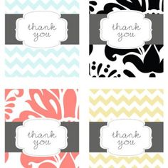 Thank You Card {free printable}