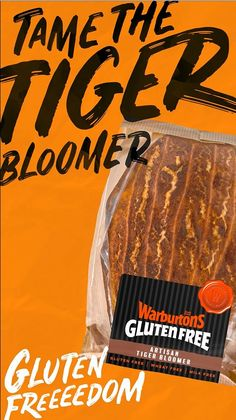 Discover a world of gluten free goodies with the Warburtons Gluten Free range. Our Artisan Tiger Bloomer tastes as good as it looks, with its patterned crust, delicious soft crumb and distinctive flavour. Pile a thick slice with cheddar and gouda, then place it under the grill until it's bubbling and golden brown. Perfect for a lunchtime bite or a midnight snack. Onward to Gluten Freeeedom!