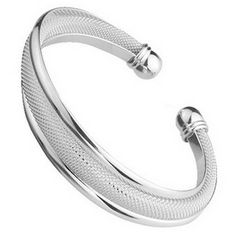 Fashion Women Female Jewelry Elegant Silver Plated Bangles Cuff Bracelets High Quality Gifts Mesh Net Bracelet Pulseira Feminina