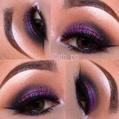purple eyeshadow.. Sooooo pretty! :)