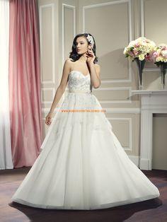 Robe de mariée bustier cristal tulle avec ceinture