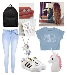 """School #7 Unicorn"" by jennipennix ❤ liked on Polyvore featuring Glamorous, adidas Originals, Artistique, Hogan and Miss Selfridge"