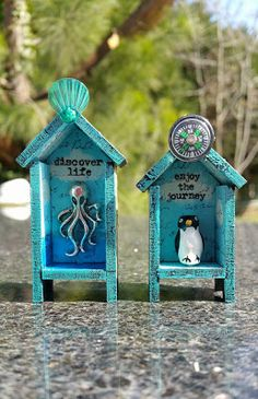 By Tracy Delisle using Mini Hutch House Shrine Kits and more from Café Art Gallery. www.RetroCafeArt.com