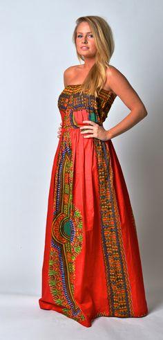 such cute african fabric dress :)