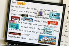We love this Fathers Day Candy Bar Poster. A fun gift for the person how loves candy. This and more DIY Fathers Day Gift Ideas Homemade Fathers Day Gifts, Diy Father's Day Gifts, Father's Day Diy, Fathers Day Crafts, Craft Gifts, Cute Gifts, Gifts For Dad, Kid Crafts, Homemade Gifts