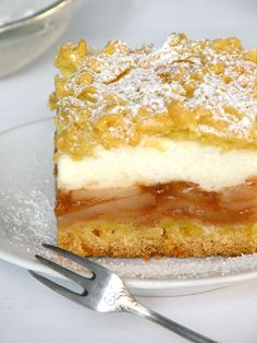 """Bake & Taste: Apple pie shortcrust pastry (""""the best in the world"""") Translated into English Fall Dessert Recipes, Fall Desserts, No Bake Desserts, Just Desserts, Cake Recipes, Snack Recipes, Cooking Recipes, Polish Desserts, Polish Recipes"""