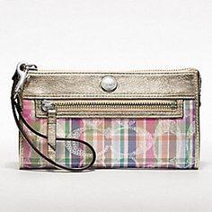 Coach Poppy Madras Zippy Wallet (Coach.com); $98.