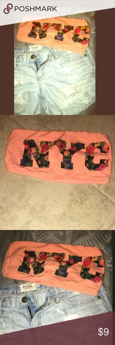 Floral NYC Bandeau✨ Super cute with a razor back tee only worn a few times. NY Collection Other