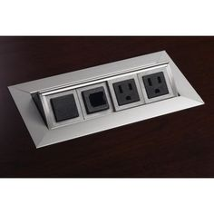 Power and Data Module with 4 Power and 4 Data Outlets (Silver) - http://www.specialdaysgift.com/power-and-data-module-with-4-power-and-4-data-outlets-silver/