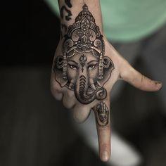 God of success b&g Ganesha hand piece Artist IG: @niki23gtr #tattoo…
