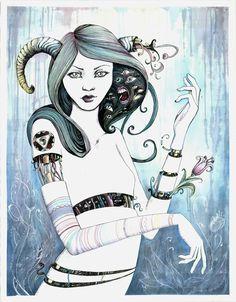 Abandoned Angel by Ana Krkljus Online Art Gallery, Abandoned, Illustration Art, Tumblr, Angel, Left Out, Tumbler, Ruin, Angels