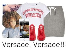 """untitled #104"" by yani122 ❤ liked on Polyvore featuring River Island, Tee and Cake and adidas"