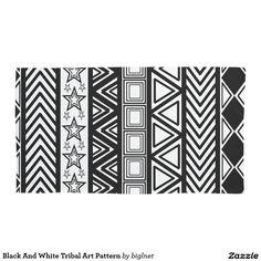 Black And White Tribal Art Pattern Pillowcase