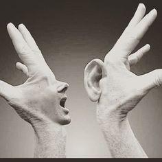 La comunicazione parte non dalla bocca che parla ma dall'orecchio che ascolta. (Anonimo) Buona domenica!  #sunday #comunicazione #comunication #parlare #ascoltare #comunicare #gmcomunicationanddesign