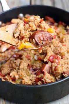 One Pan Jambalaya recipe from TastesBetterFromScratch.com