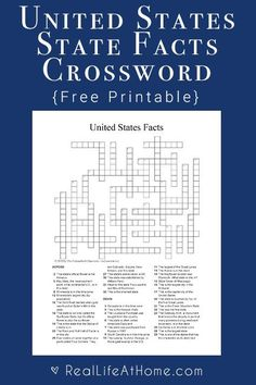 United states state abbreviations crossword puzzle printable free whether youre studying the united states or just love learning facts this printable us state facts crossword puzzle is the perfect addition to your urtaz Gallery