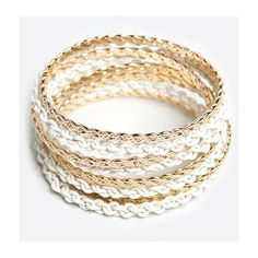 ZooShoo Jump Through Hoops Bracelet ($15) ❤ liked on Polyvore featuring jewelry and bracelets