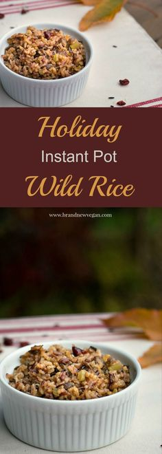 This Instant Pot Wild Rice is my first Holiday Recipe of the year. Wild Rice, Mushrooms, Sage, and Cranberries make this perfect for any Holiday table.