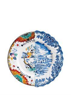 SELETTI - HYBRID VALDRADA BONE CHINA FRUIT PLATE - LUISAVIAROMA - LUXURY SHOPPING WORLDWIDE SHIPPING - FLORENCE