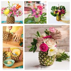 Pineapple Centerpiece Pineapple Centerpiece, Tropical Centerpieces, Birthday Centerpieces, Baby Shower Centerpieces, Moana Birthday Party Theme, Birthday Cookout, 60th Birthday, Tropical Bridal Showers, Tropical Party